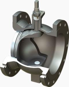 pneumatic ball valve v potr