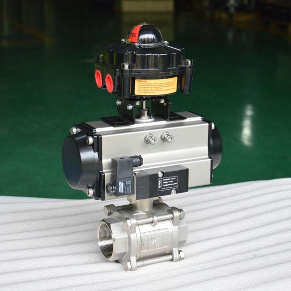 3 pc pneumatic ball valve 4