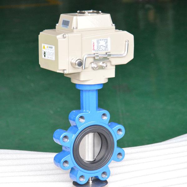 Electric lug butterfly valve