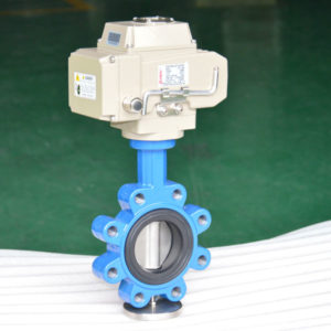 Electric lug butterfly valve