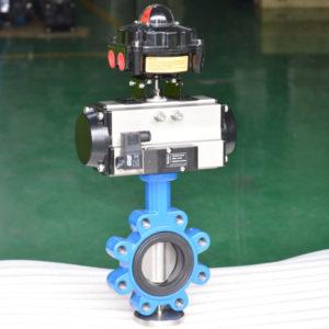 Pneumatic lug butterfly valve