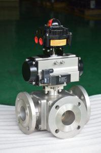 pneumatic 3 way ball valve