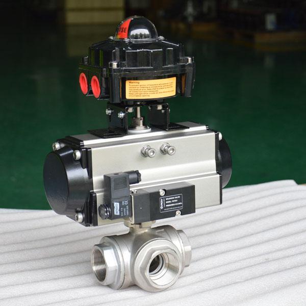 pneumatic ball valve 3-way