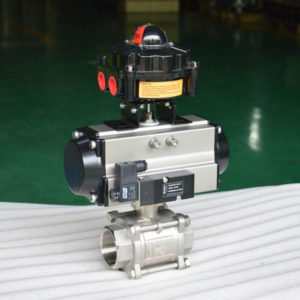 3 pc pneumatic ball valve 4