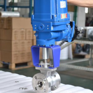 Electric V type ball valve