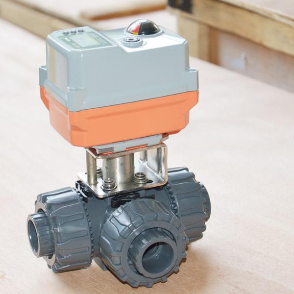electric 3 way pvc ball valve