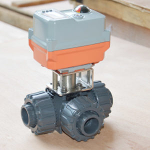 electric 3 way pvc ball valve