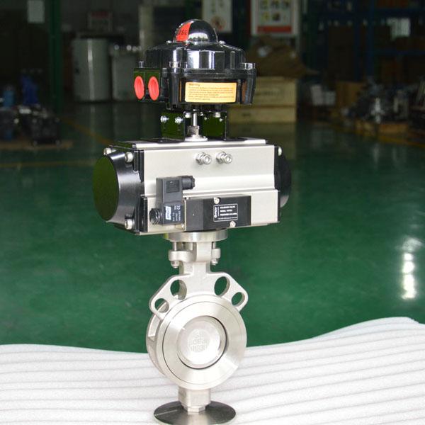 High performance pneumatic butterfly valve
