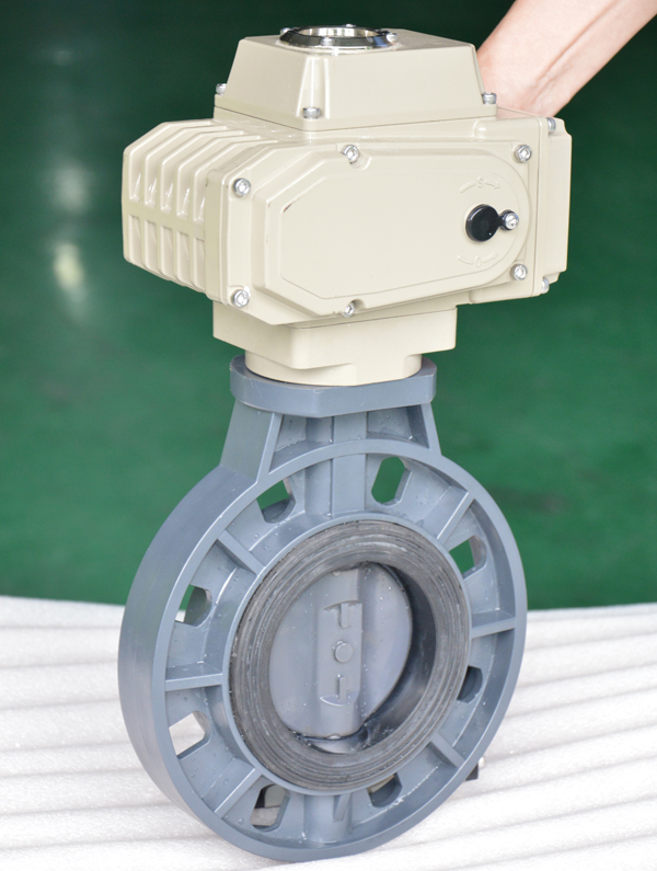 Electric pvc butterfly valve