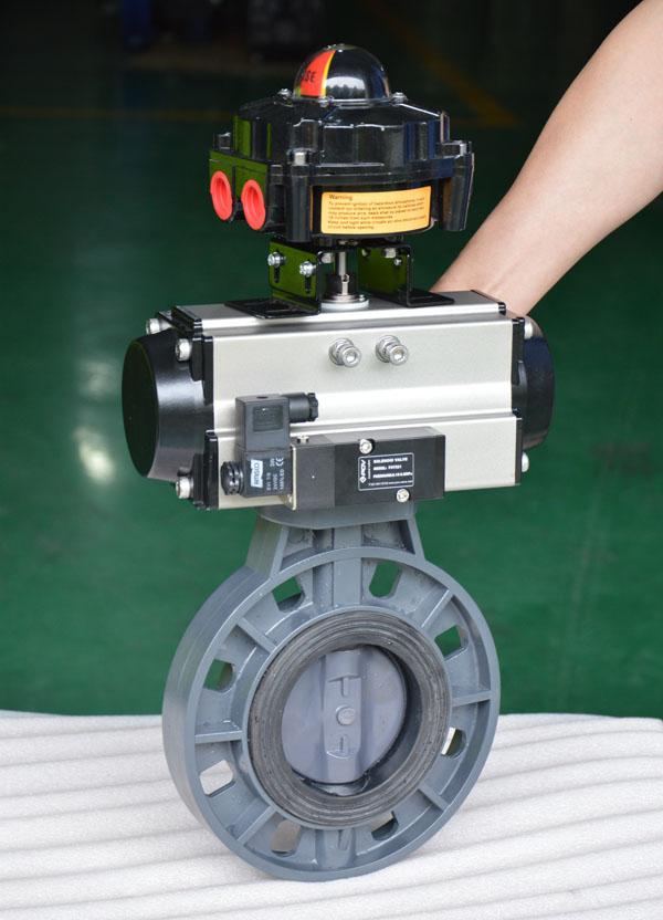 PVC Pneumatic butterfly valve
