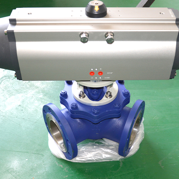 Y Pneumatic ball valve