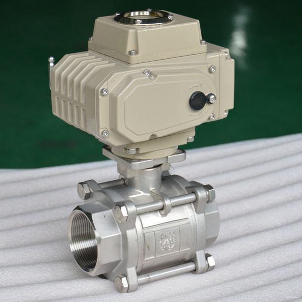 3 pc Electric ball valve