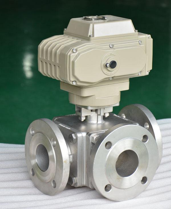 electric 3 way ball valve
