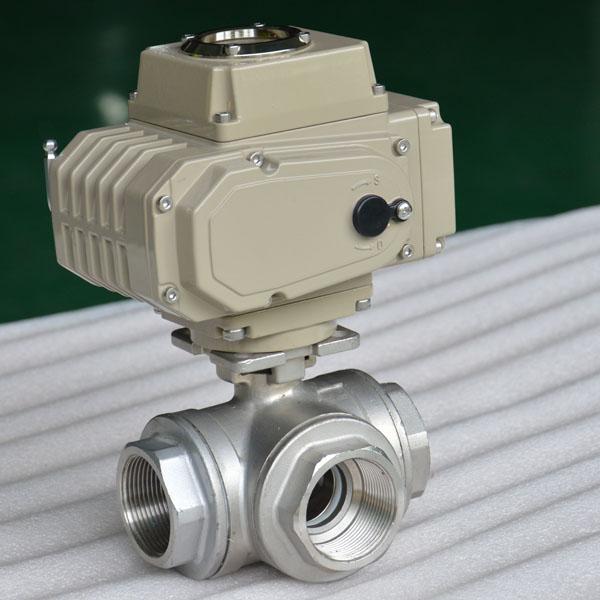 electric ball valve 3-way 3